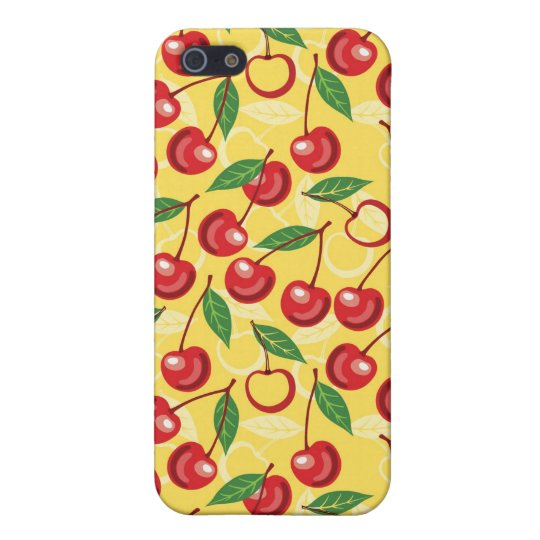 Modelo de la cereza iPhone 5 funda