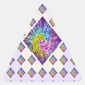 Modelo de la chispa del DIAMANTE Pegatina Triangular