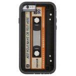 Modelo de la cinta de casete de música de la funda de iPhone 6 tough xtreme