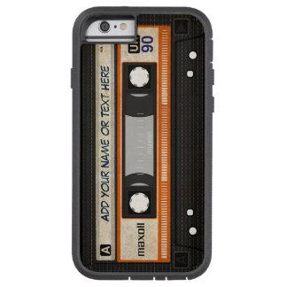 Modelo de la cinta de casete de música de la funda para  iPhone 6 tough xtreme