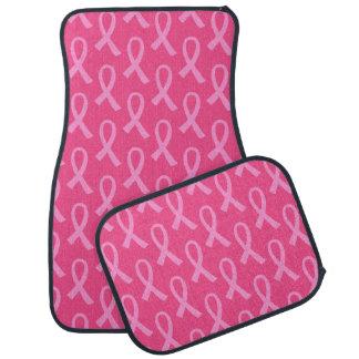Modelo de la cinta del rosa del cáncer de pecho alfombrilla de auto