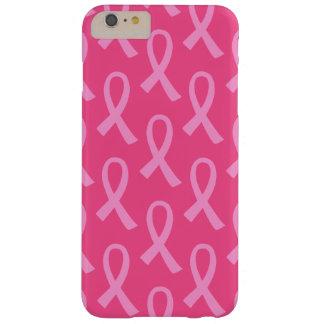 Modelo de la cinta del rosa del cáncer de pecho funda de iPhone 6 plus barely there