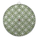 Modelo de la circular del verde verde oliva tablero dardos