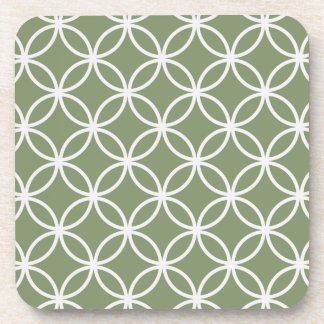 Modelo de la circular del verde verde oliva posavasos de bebidas