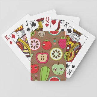 Modelo de la cocina de la fruta barajas de cartas