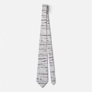 Modelo de la corteza de abedul corbatas