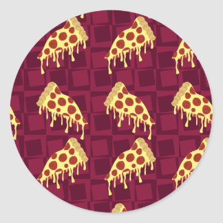 Modelo de la empanada de pizza pegatina