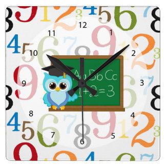 Modelo de la escuela reloj cuadrado