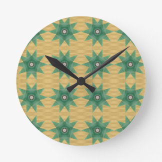 ¡Modelo de la estrella de Quilter! Reloj Redondo Mediano