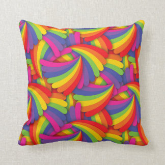 Modelo de la fan del arco iris cojín