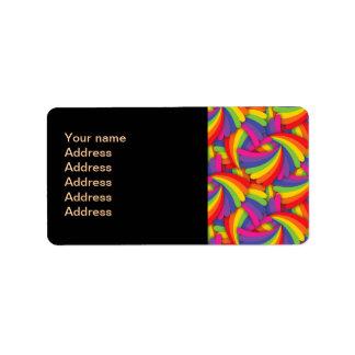Modelo de la fan del arco iris etiquetas de dirección