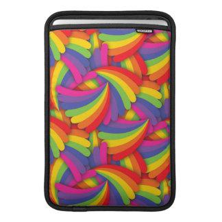 Modelo de la fan del arco iris funda para macbook air