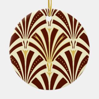 Modelo de la fan del art déco - chocolate en la ornamente de reyes