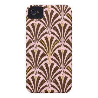 Modelo de la fan del art déco - chocolate en rosa iPhone 4 Case-Mate cobertura