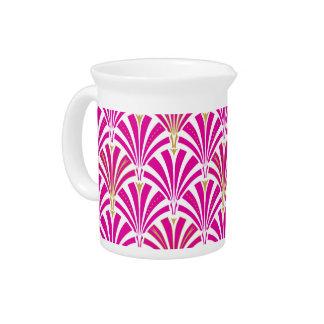 Modelo de la fan del art déco - rosa del fucsia jarra