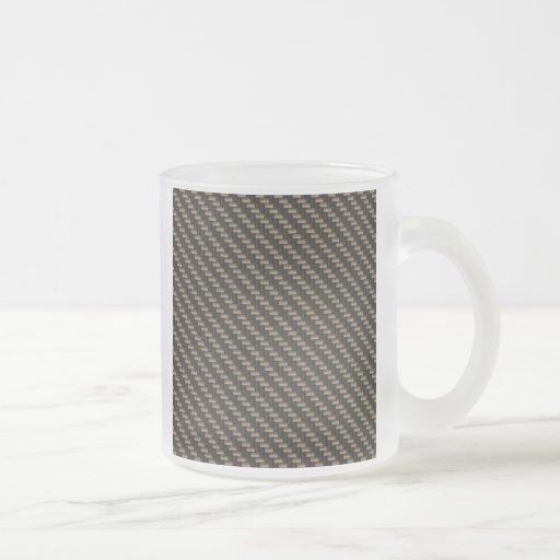 Modelo de la fibra de carbono (falso) tazas de café