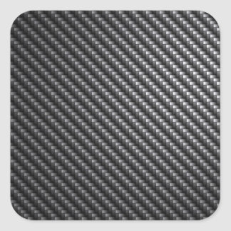 Modelo de la fibra de carbono pegatina cuadrada