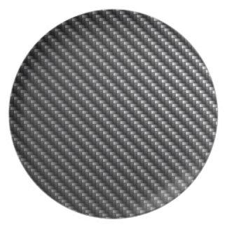 Modelo de la fibra de carbono platos