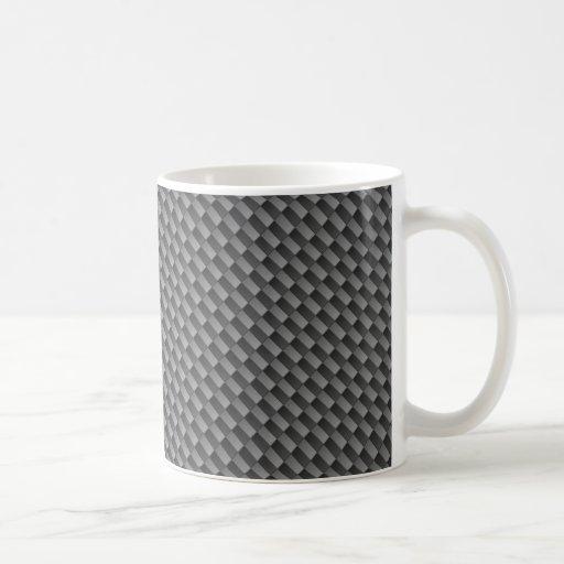 Modelo de la fibra de carbono taza de café