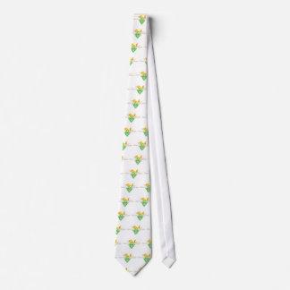 Modelo de la flor con los estambres y los pistils corbatas personalizadas
