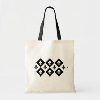 Modelo de la flor de lis del diamante bolsa tela barata