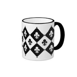 Modelo de la flor de lis del diamante taza