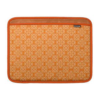 Modelo de la flor de lis en naranja funda para macbook air