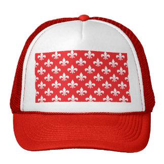 Modelo de la flor de lis en rojo gorros