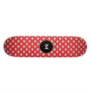 Modelo de la flor de lis en rojo tablas de patinar