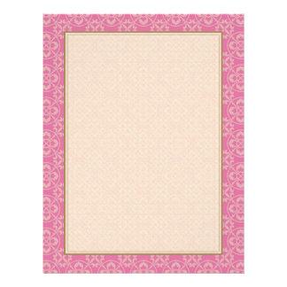 "Modelo de la flor de lis en rosa folleto 8.5"" x 11"""