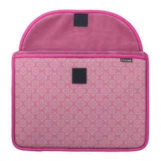 Modelo de la flor de lis en rosa funda para macbook pro