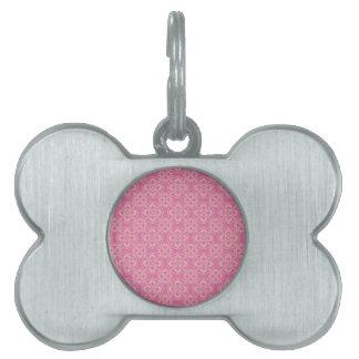 Modelo de la flor de lis en rosa placa mascota