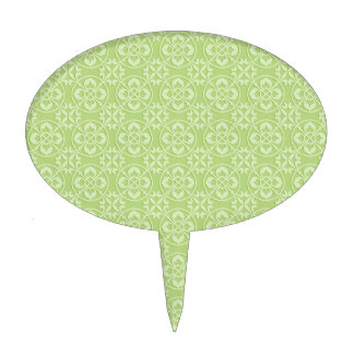Modelo de la flor de lis en verde figuras de tarta