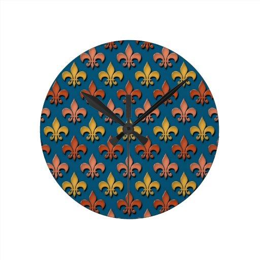 Modelo de la flor de lis relojes