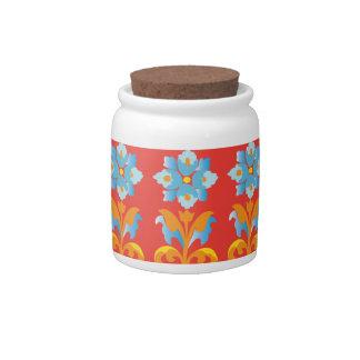 modelo de la flora jarras para caramelos