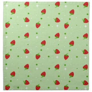 Modelo de la fresa en fondo verde servilleta