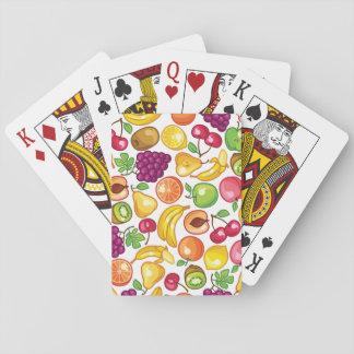 Modelo de la fruta cartas de juego