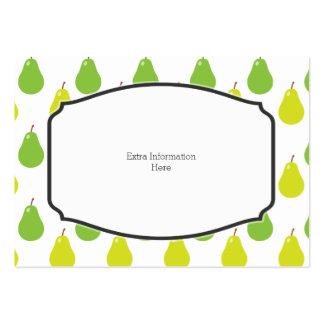 Modelo de la fruta de la pera tarjetas de visita grandes