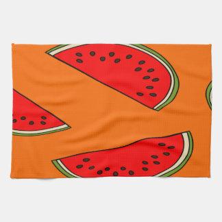Modelo de la fruta del melón toallas