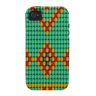 Modelo de la gota del nativo americano Case-Mate iPhone 4 fundas