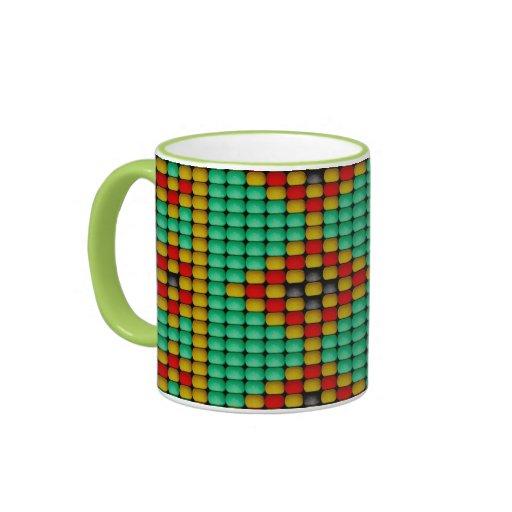 Modelo de la gota del nativo americano taza a dos colores