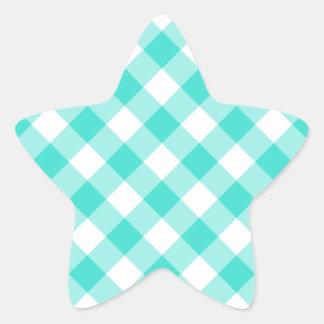 Modelo de la guinga de la turquesa calcomanías forma de estrellas personalizadas