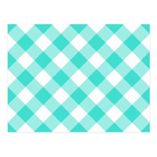 Modelo de la guinga de la turquesa tarjetas postales