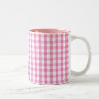 Modelo de la guinga de las rosas fuertes tazas de café