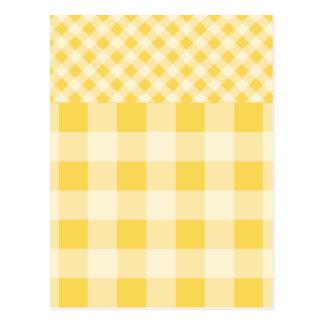 Modelo de la guinga del ánimo de limón tarjetas postales