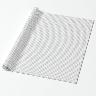 Modelo de la guinga del blanco gris papel de regalo