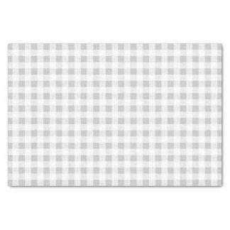 Modelo de la guinga del blanco gris papel de seda pequeño