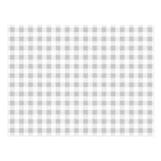 Modelo de la guinga del blanco gris postales