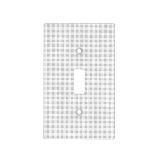 Modelo de la guinga del blanco gris cubierta para interruptor