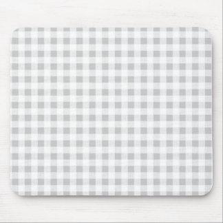 Modelo de la guinga del blanco gris mousepad
